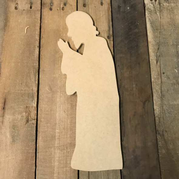 Nativity Scene Cutout, Wooden Paintable Shape