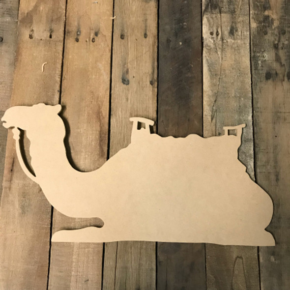 Wooden Camel Nativity Scene , Wooden Paintable Shape