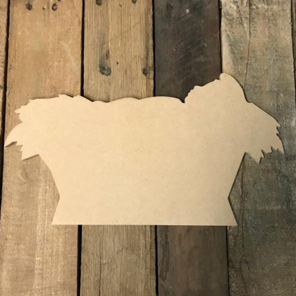 Wooden Manger nativity  Cutout, Wooden Manger Paintable Shape