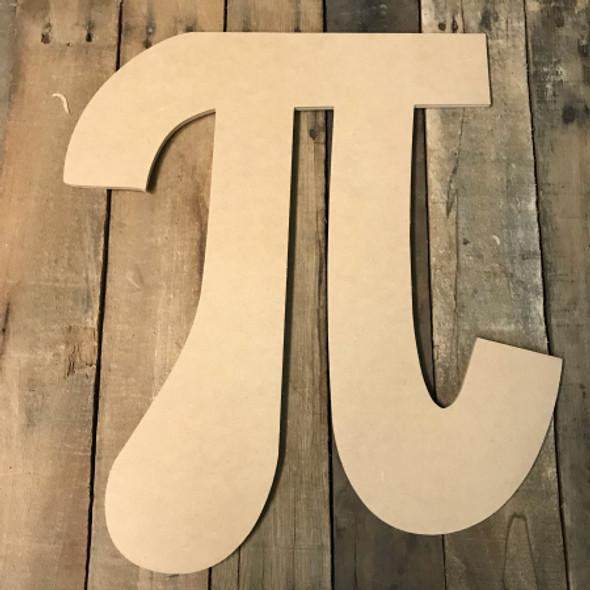 Wooden Pie Cutout, Wooden Pie Paintable Shape