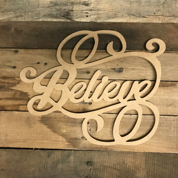 Believe Word, Alphabet Paintable DIY