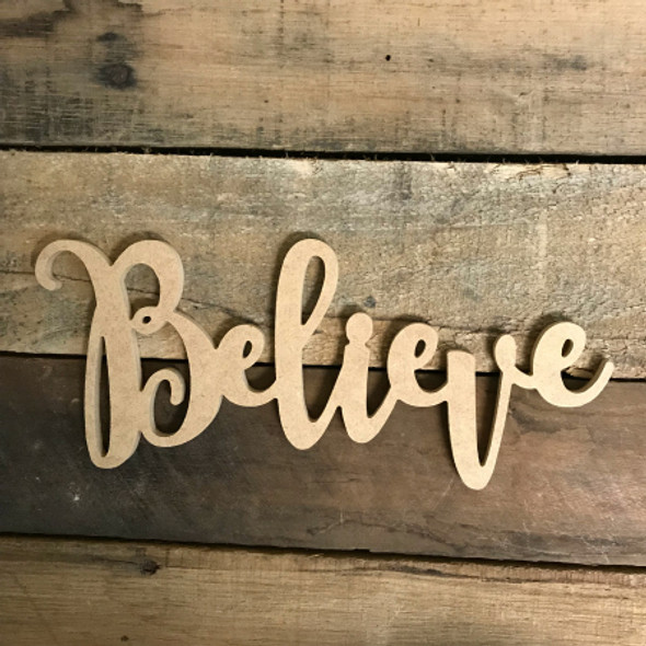 Believe Word, Unfinished Shape, Alphabet Paintable DIY