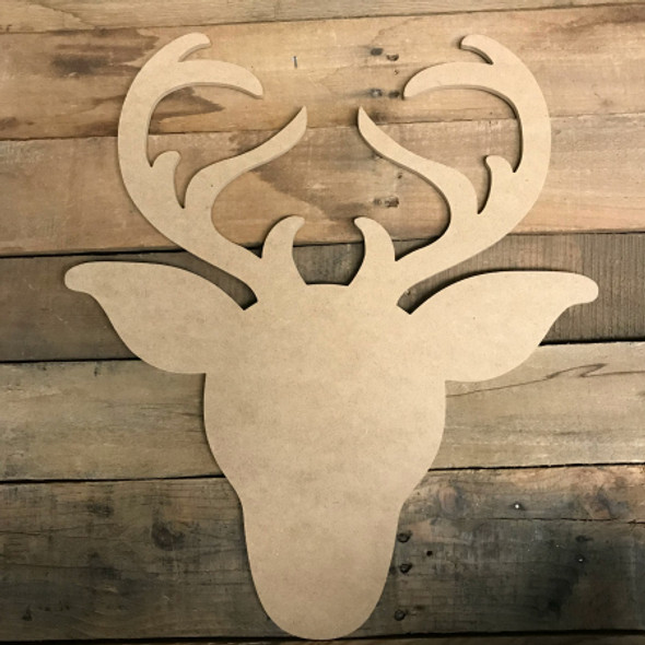 Reindeer, Paintable Shape, Unfinished Cutout, Craft Wood
