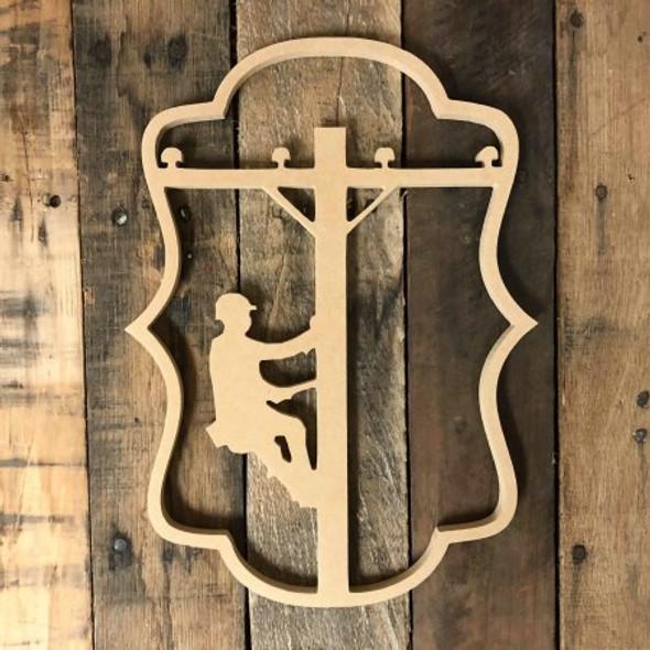 Lineman Cutout Unfinished Wooden Cutout Craft