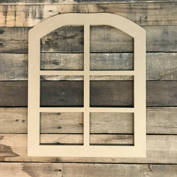 Wall Wood Cathedral Arch Window Decor,  Wooden Cutout Craft