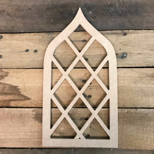 DIY Cathedral Arch Window Decor,  Wooden Cutout Craft