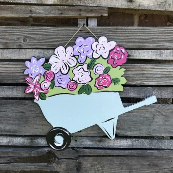 Tutorial Wheelbarrow with Flowers