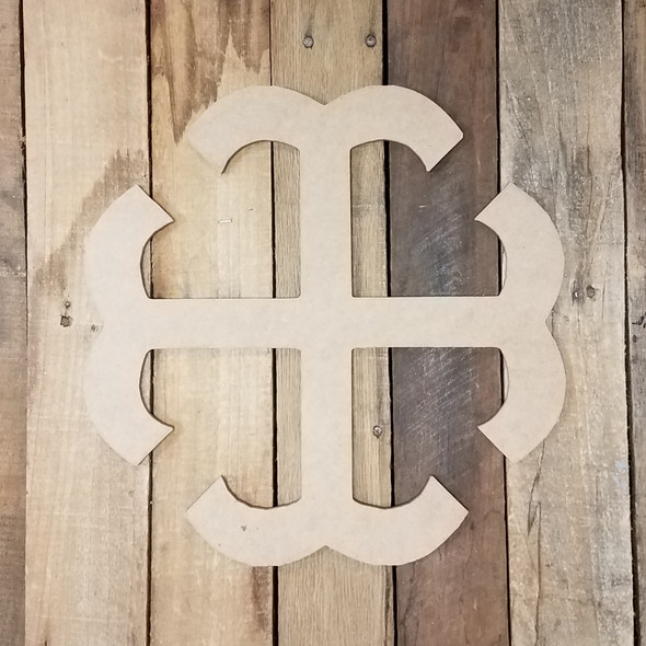 French Cross Unfinished Wooden Paintable Wall Hanging Stackable