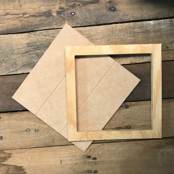 Unfinished 8 x 8 Shiplap Pine Framed Sign Kit