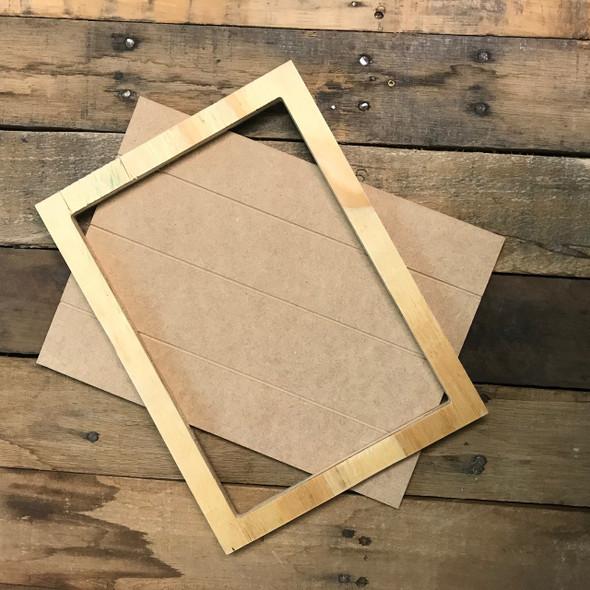 Unfinished 8.5 x 11.5 Shiplap Pine Framed Sign Kit