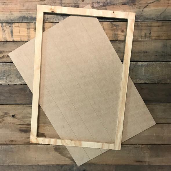 Unfinished 15 x 22 Shiplap Pine Framed Sign Kit