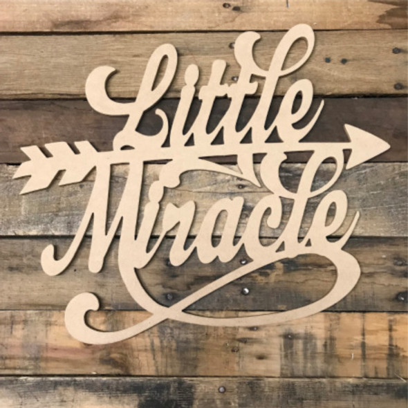 Little Miracle, Unfinished Wooden Cutout Craft