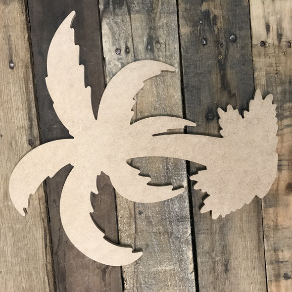 Palm Tree, Unfinished Wooden Cutout Craft