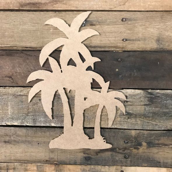 Four Palm Trees , Unfinished Wooden Cutout Craft