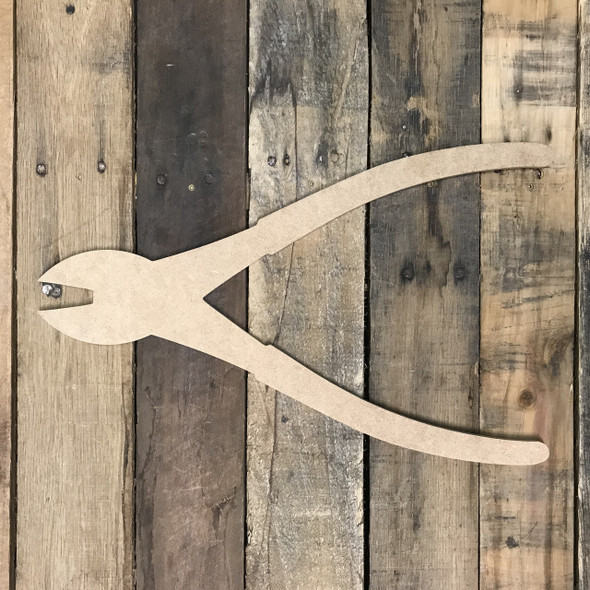Cutting Pliers, Unfinished Wooden Cutout Craft