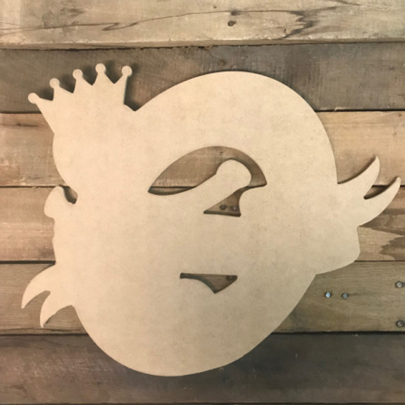 King Cake with Baby, Unfinished Wooden Cutout Craft