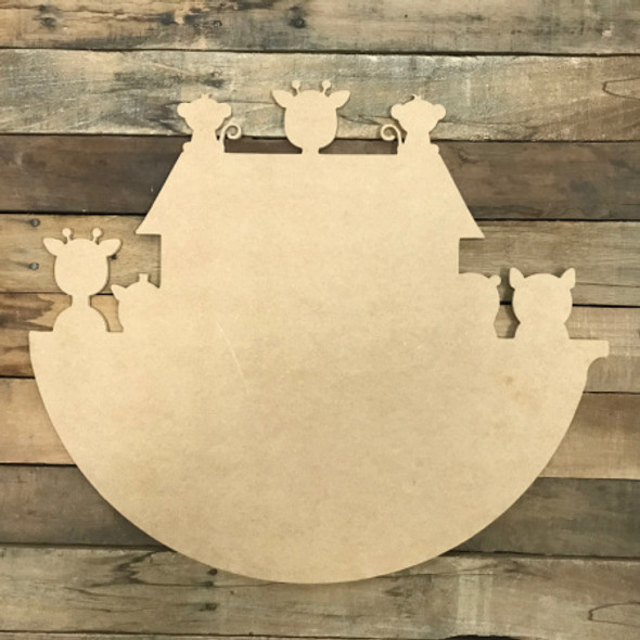 Noah's Ark, Unfinished Wooden Cutout Craft