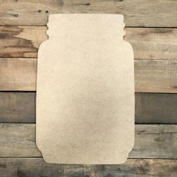 New Mason Jar Unfinished Cutout