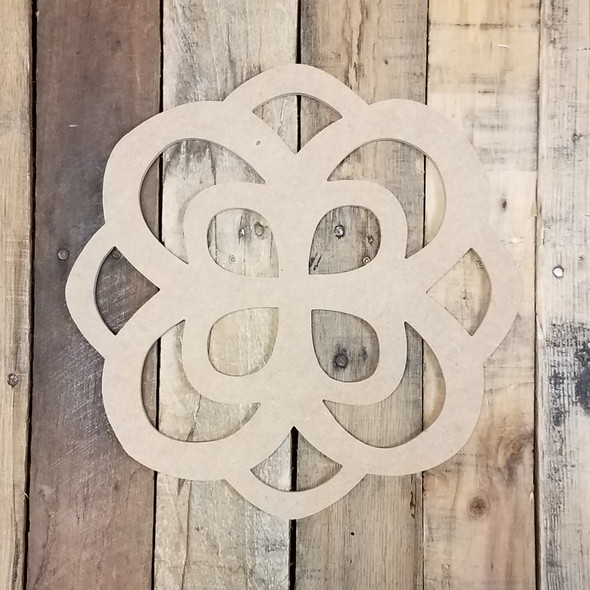 Infinity Rose, Unfinished Cutout, Craft Wood