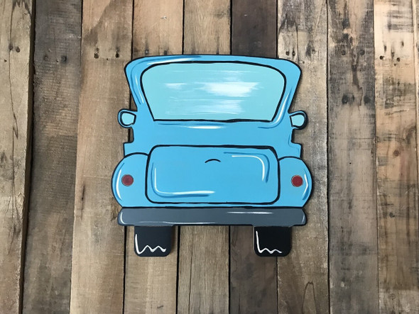 Original Truck Unfinished Wooden Cutout Craft