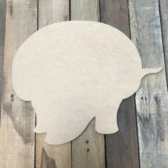 Armadillo, Unfinished Cutout, Craft Wood Shape