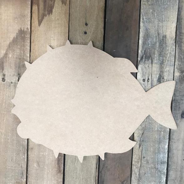 Blowfish, Unfinished Cutout, Craft Wood Shape