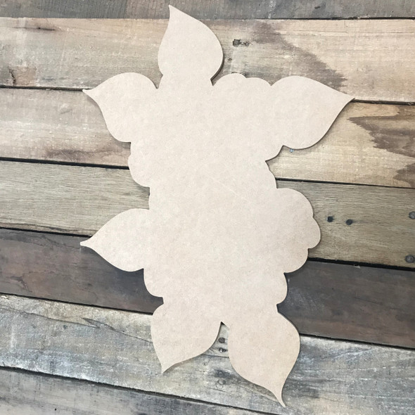 Two Flowers, Unfinished Cutout, Craft Wood Shape