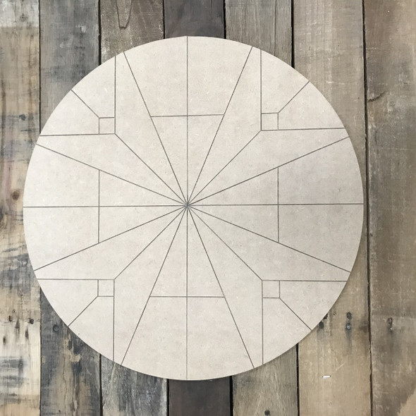Circle Quilt Boho Pattern 7 DIY, Unfinished Wood Cutout, Paint by Line