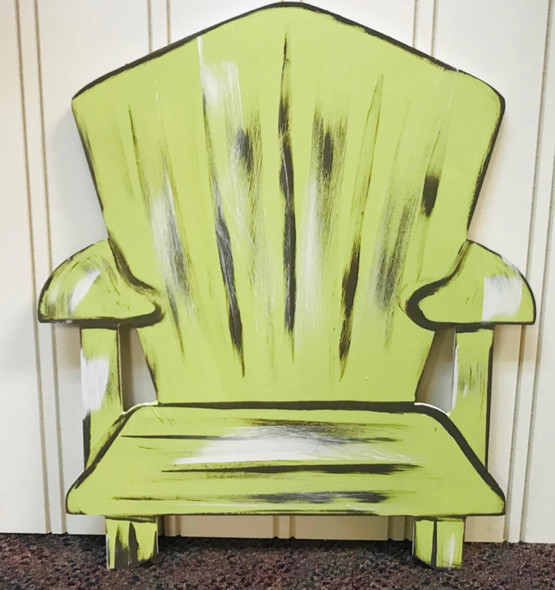 Beach Chair, Unfinished Wooden Cutout Craft, Paint by Line