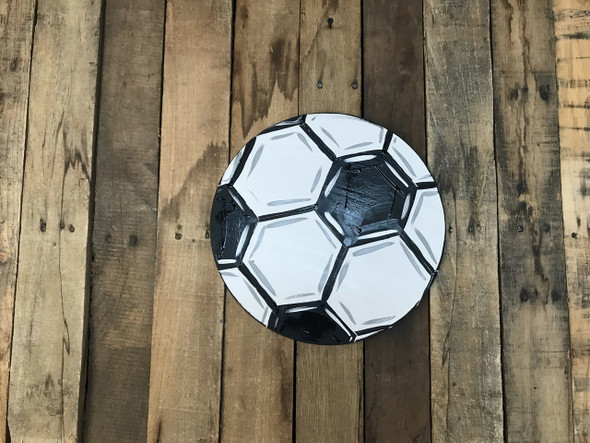 Soccer Ball, Unfinished Wooden Cutout Craft, Paint by Line