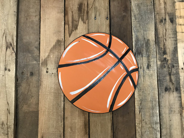 BasketBall, Unfinished Wooden Cutout Craft, Paint by Line