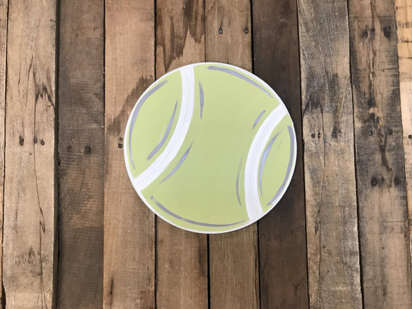 Tennis Ball, Unfinished Wooden Cutout Craft, Paint by Line