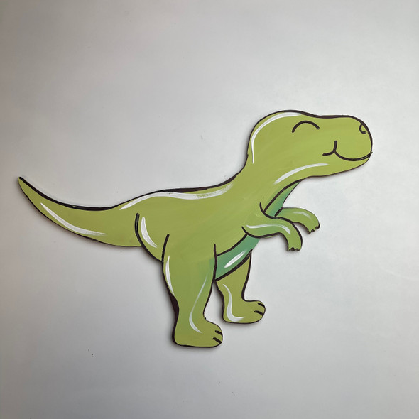 Dinosaur 2, Unfinished Wooden Cutout Craft, Paint by Line