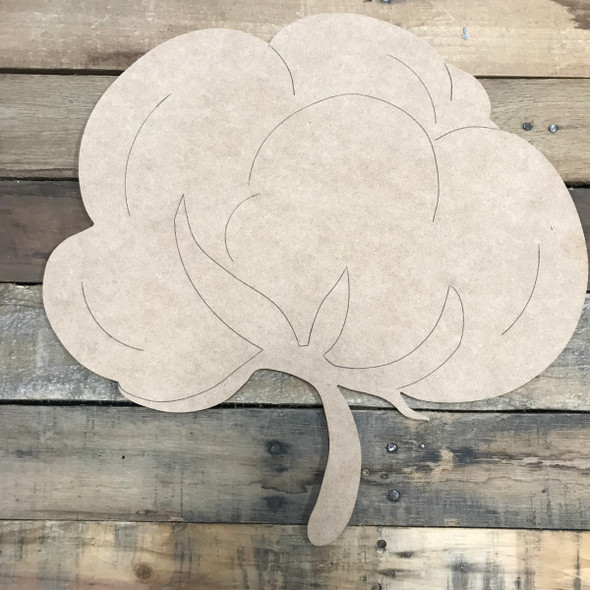 Fat Cotton, Unfinished Wooden Cutout Craft, Paint by Line