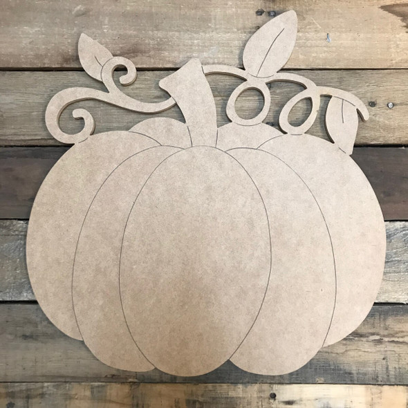 Vine Pumpkin Unfinished Wooden Cutout Craft
