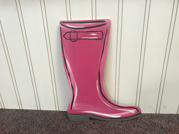 Rain Boot, Unfinished Wooden Craft, Paint by Line