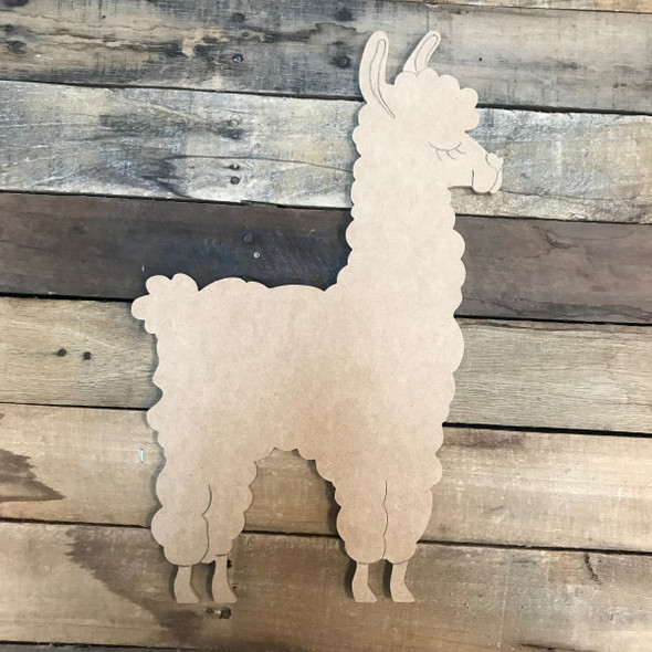 Llama/Alpaca, Unfinished Wooden Craft, Paint by Line