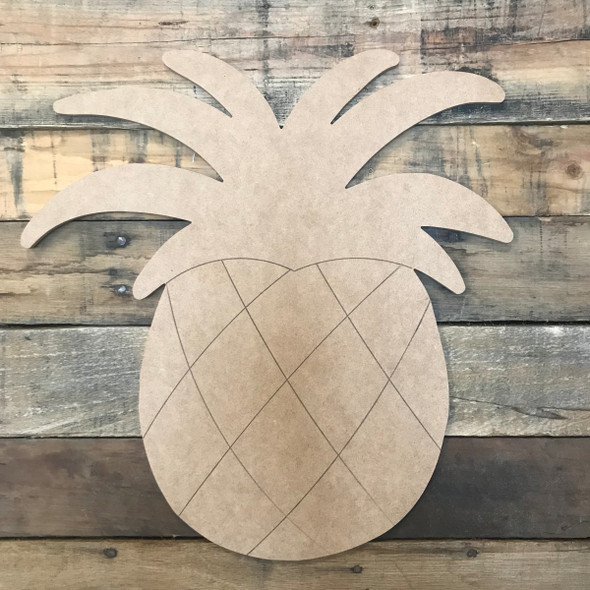 Pineapple, Unfinished Wooden Craft, Paint by Line