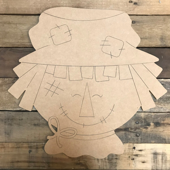 Scarecrow Head Unfinished Craft Paint by Line