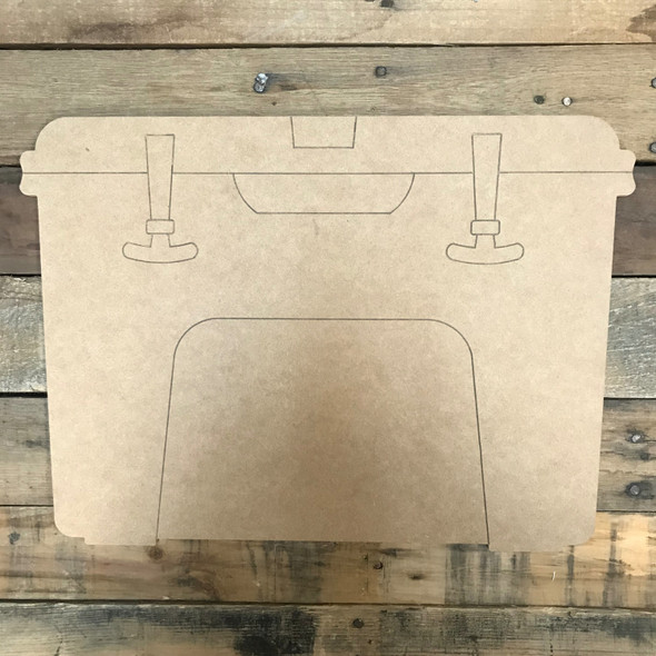 Ice Chest, Unfinished Craft, Paint by Line