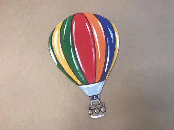 Hot Air Balloon Cutout, Unfinished Craft, Paint by Line