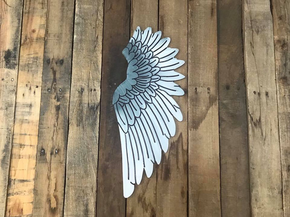 Wing Cutout, Wooden Paint-able, Paint by Line