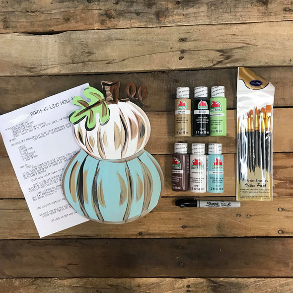 Stacked Pumpkin Paint Kit, Video Tutorial and Instructions