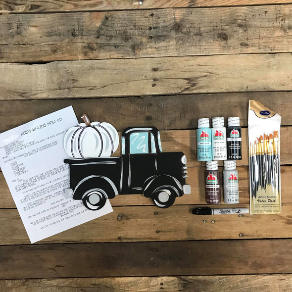 Pumpkin Truck Paint Kit, Video Tutorial and Instructions