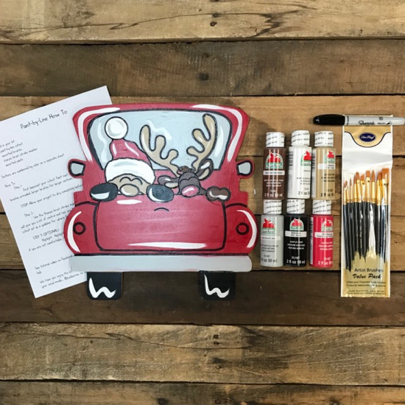 Christmas Truck Paint Kit, Video Tutorial and Instructions
