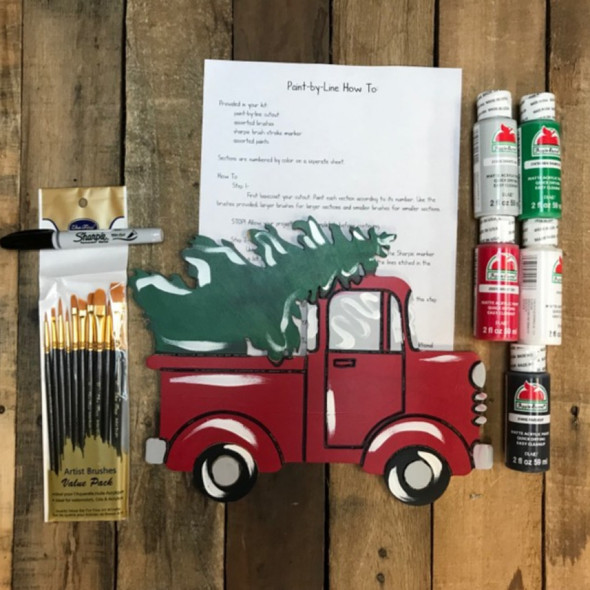 Christmas Tree Truck Paint Kit, Video Tutorial and Instructions