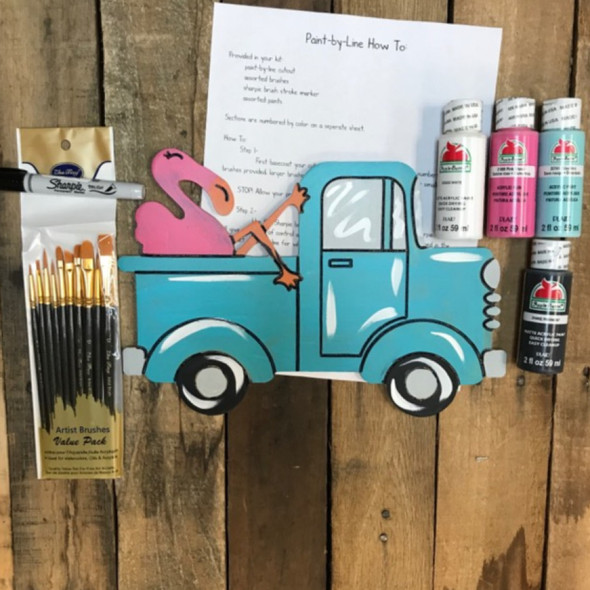 Flamingo Truck Paint Kit, Video Tutorial and Instructions