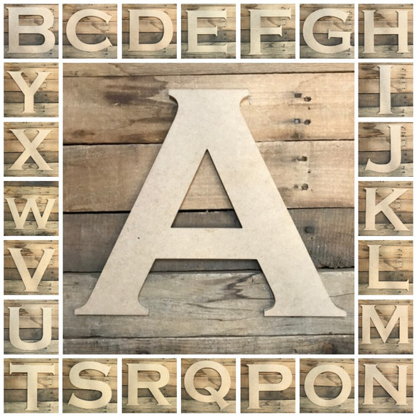Unfinished Wood Letter Paintable DIY Craft
