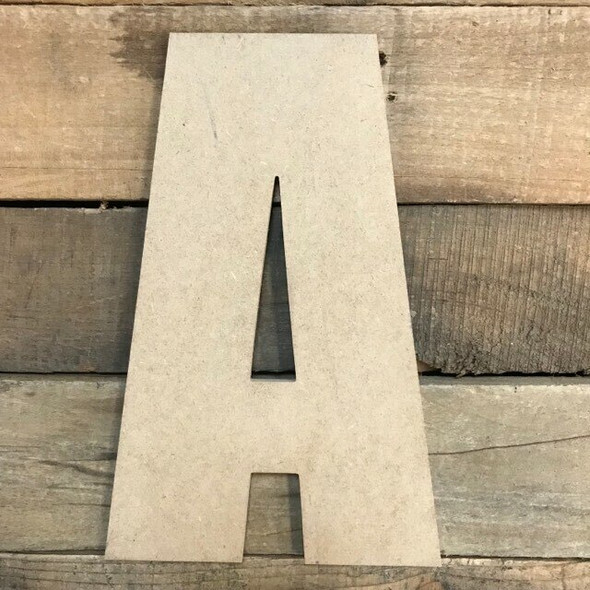 Wooden Letter Block Font Unfinished DIY Wall Decor-A