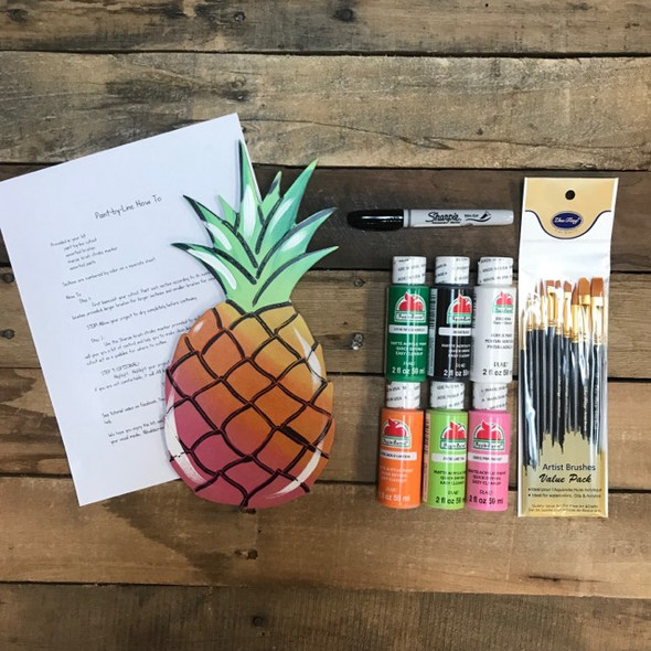 Pineapple Paint Kit, Video Tutorial and Instructions